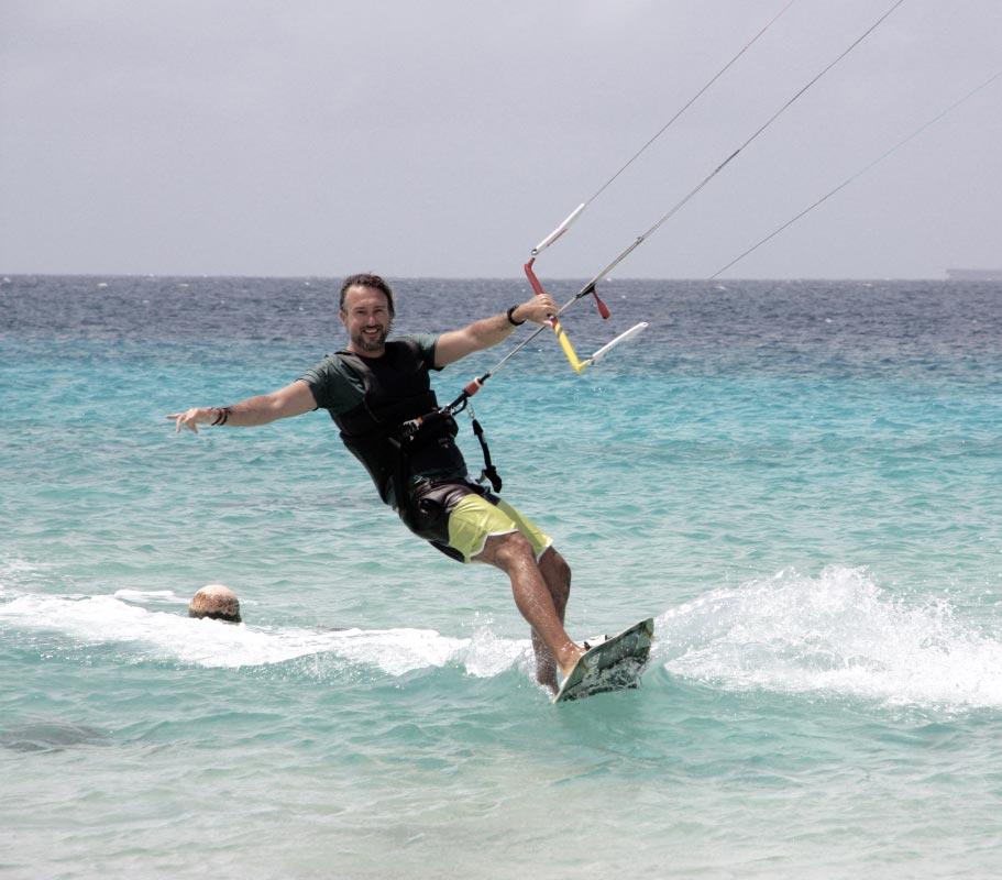 Baris kite op Bonaire. Atlantis Beach